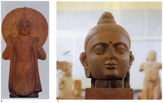 マトゥラー博物館「仏立像」 7.マトゥラー博物館「仏頭」