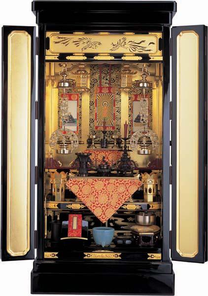 浄土真宗本願寺(西)派用金仏壇「小さいながらも正しいお飾り」
